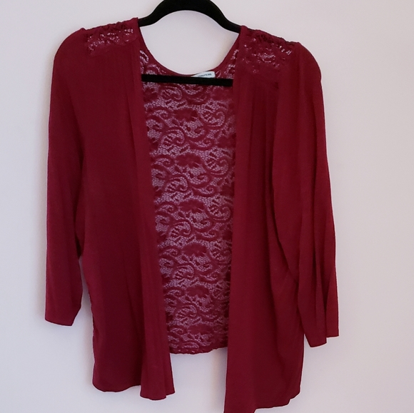 Maurices Sweaters - Maurices lace-back cardigan